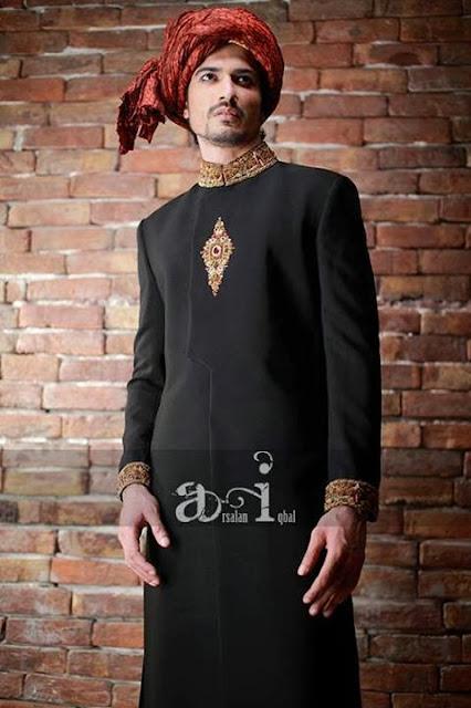 Designer Sherwanis for Men by Arsalan Iqbal 2013-14 Collection