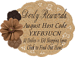 August Doily Rewards Host Code YXFB3UCN