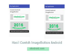 Hasil Contoh ImageButton Android