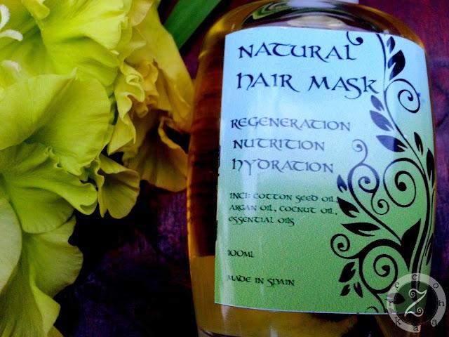 maska z olejem arganowym, z bawełny, olejem kokosowym