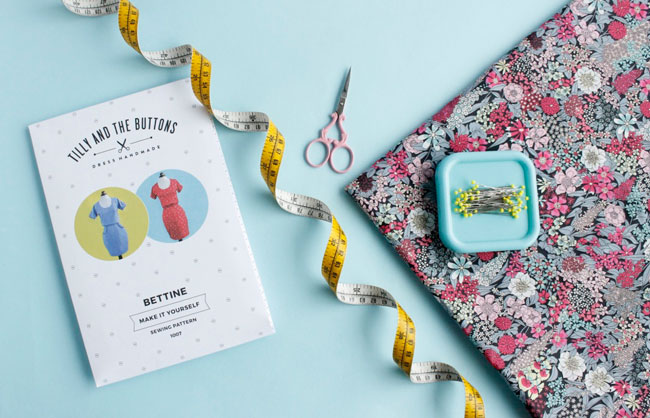 Bettine sewing pattern + Liberty fabric = winner!