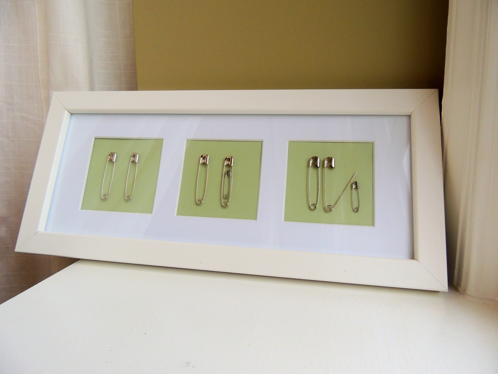 H Family Happenings Safety Pin Nursery Decor
