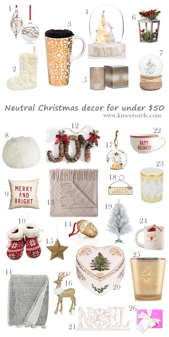 Modern Christmas Decor ideas under $50 #blogmas10