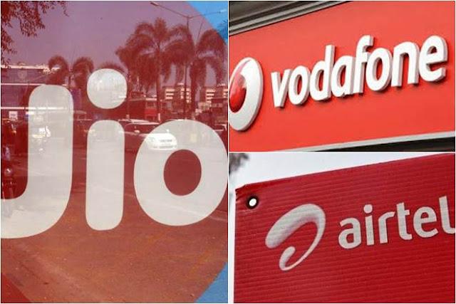 Airtel vs Vodafone vs Reliance Jio