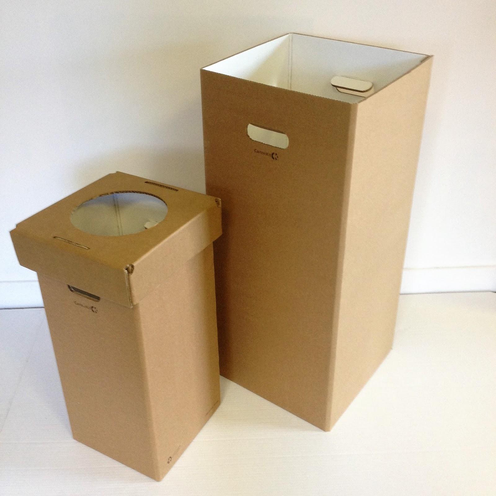 carton kit cr ations objets et meubles 100 carton poubelle corbeille carton. Black Bedroom Furniture Sets. Home Design Ideas