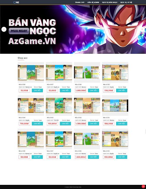 Mẫu giao diện blogspot bán acc game ngọc rồng online