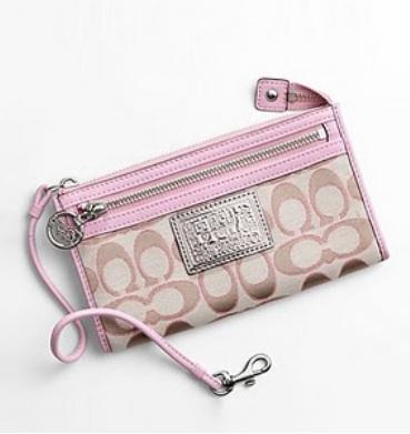 2f697a62 boutiquebag: ~Coach Poppy Signature Sateen Lurex Zippy Wallet ...