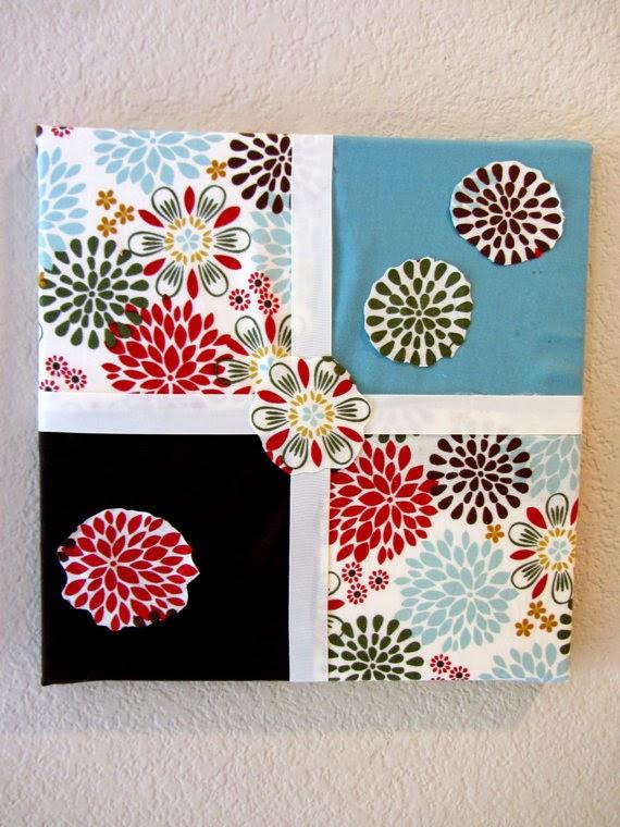 quadros feitos de tecido