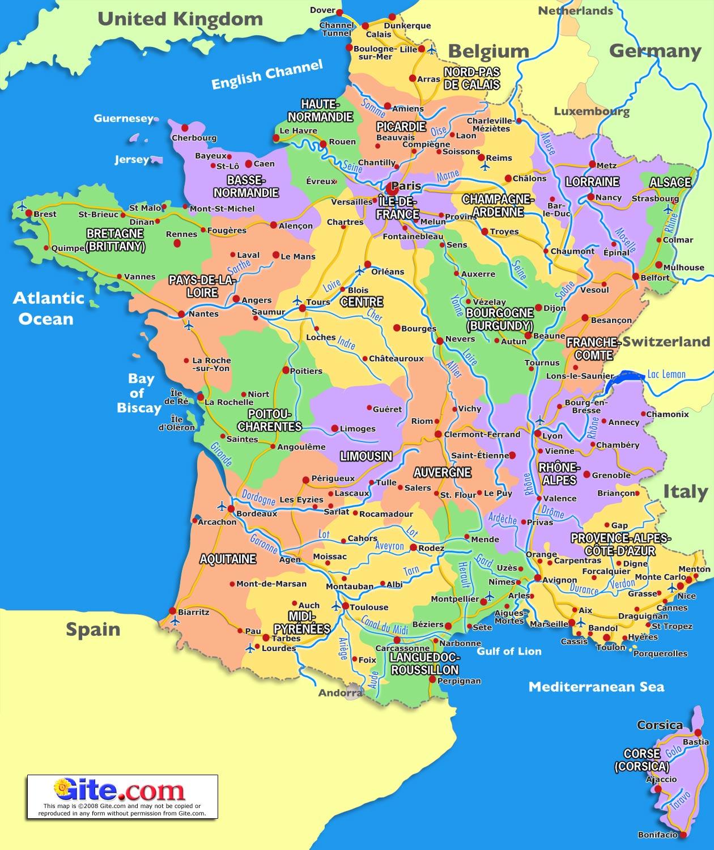 Cartina Francia Con Citta.Pz C Francia