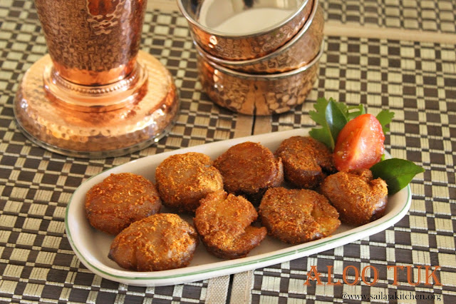 images of Aloo Tuk Recipe / Sindhi Aloo Tuk Recipe / Aloo Took Recipe / Fried Potato Recipe