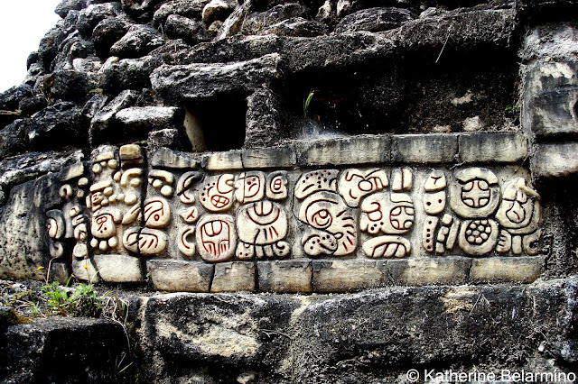Engravings on Mayan Ruins, Caracol, Belize