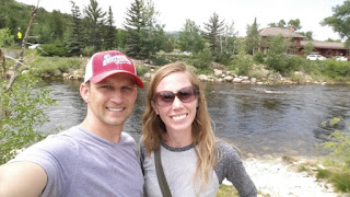 Ashley and Andrew in Steamboat Springs by the Yampa River