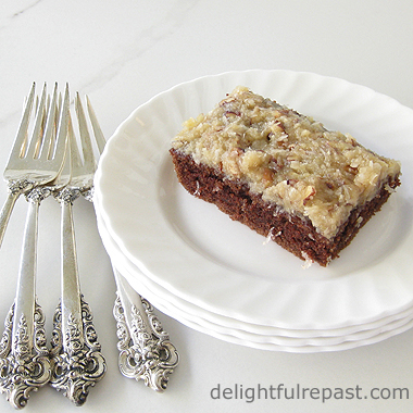 German Chocolate Sheet Cake / www.delightfulrepast.com