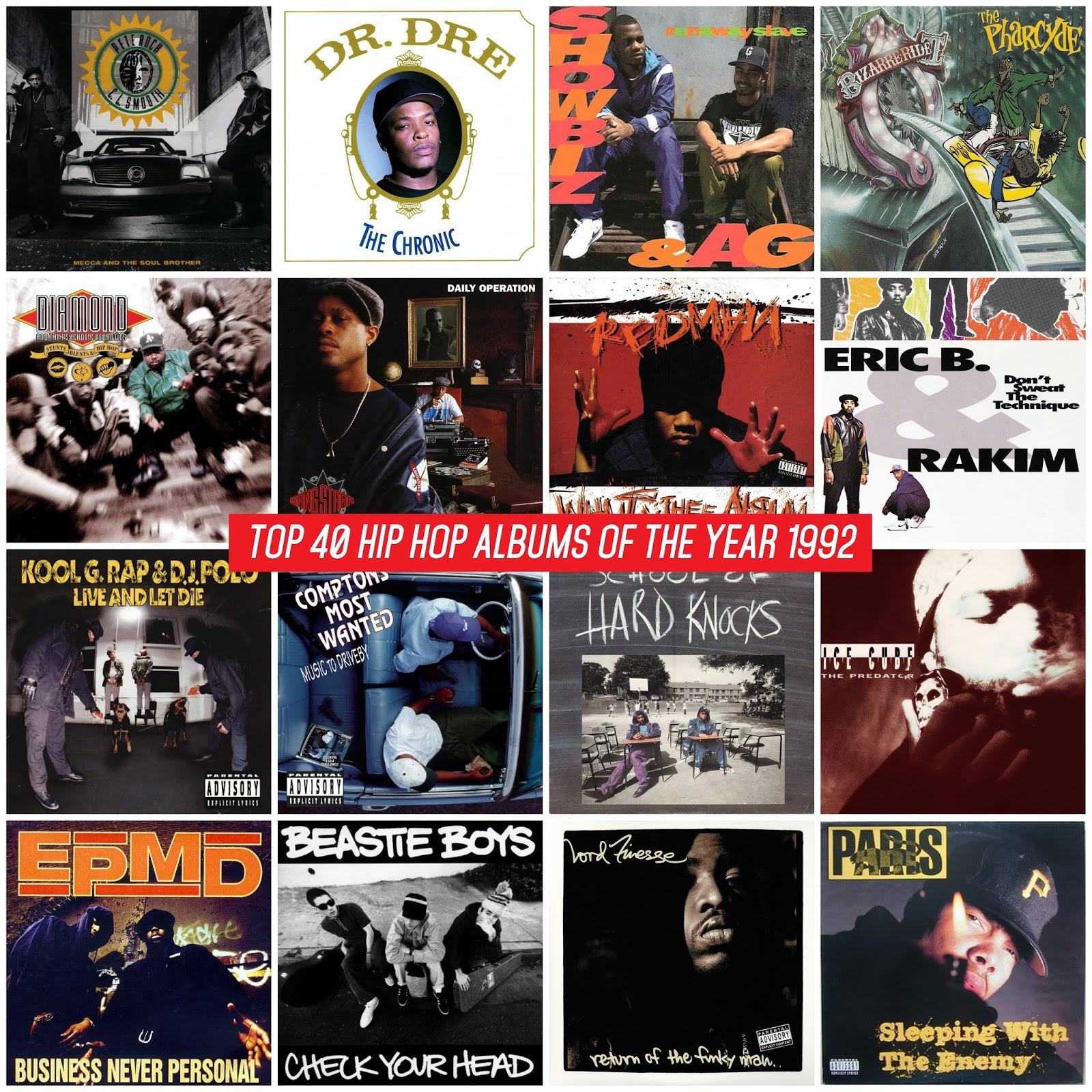 d0a02c71bb4 Los mejores álbumes del año 1992 según la página Hip-Hop Golden Age. Si  quieres saber las razones y las canciones favoritas de cada álbum visita el  ...