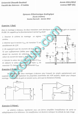 controles SMP S5 FSJ examens