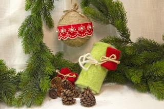Świąteczne ozdoby z filcu