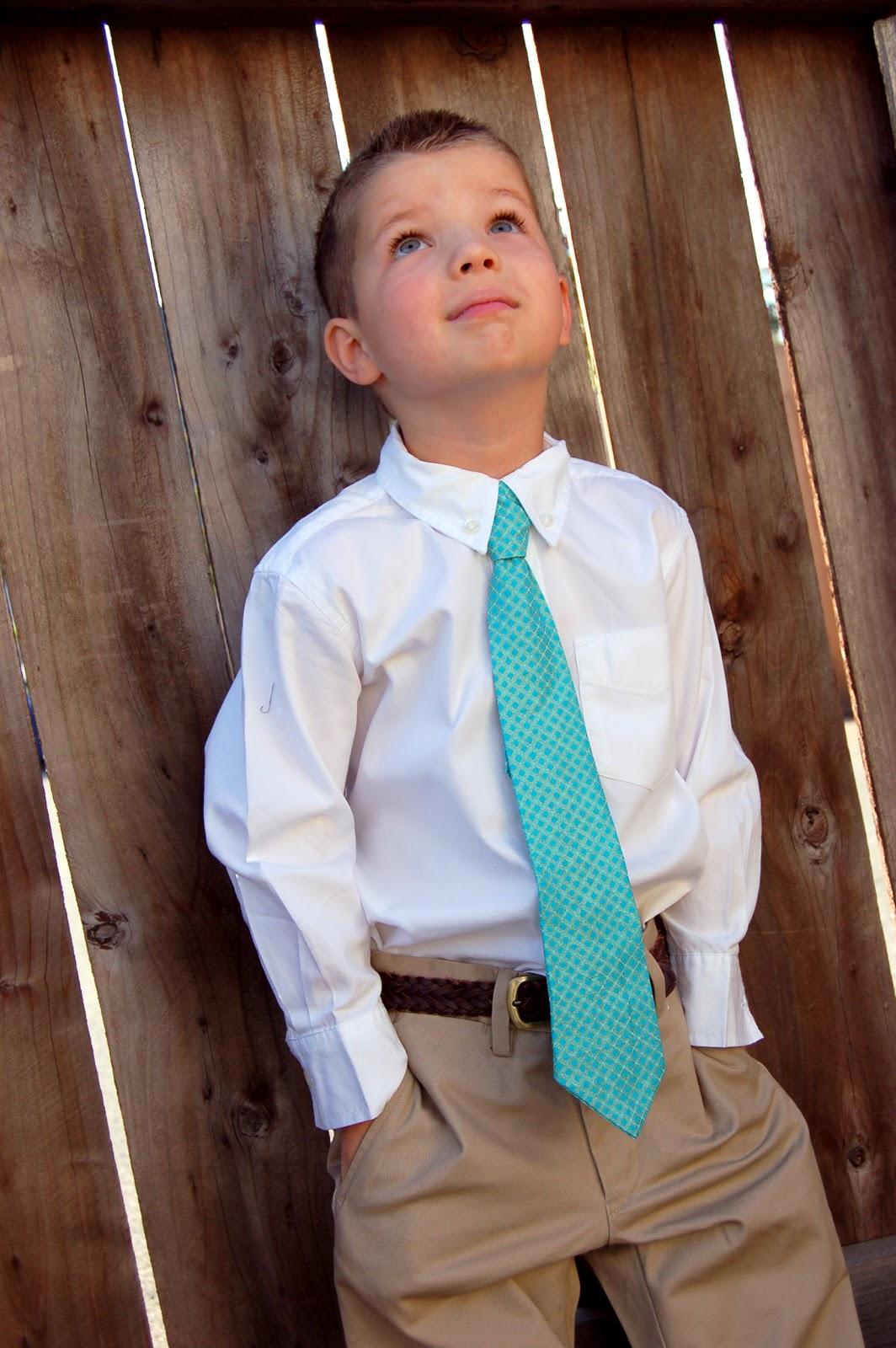 faux tie tutorial for boys {guest post} | Little Birdie ...