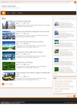 JPStation Orange Blogger Template