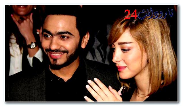 تامر حسني وزوجته المغربية يزفان خبرا سعيدا لمعجبيهما !