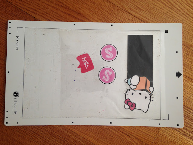 Silhouette tutorial, Silhouette Pixscan, laminated pieces, Pixscan mat
