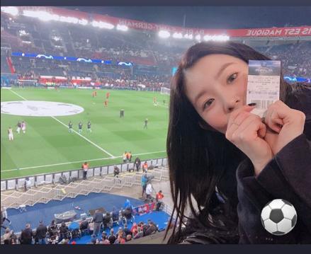 Irene bir futbol maçına gitti ve kanıt olarak resim paylaştı