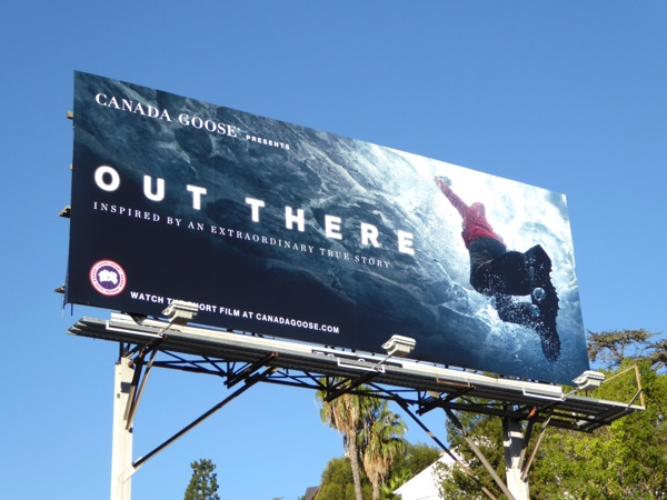 Canada Goose Out There film billboard