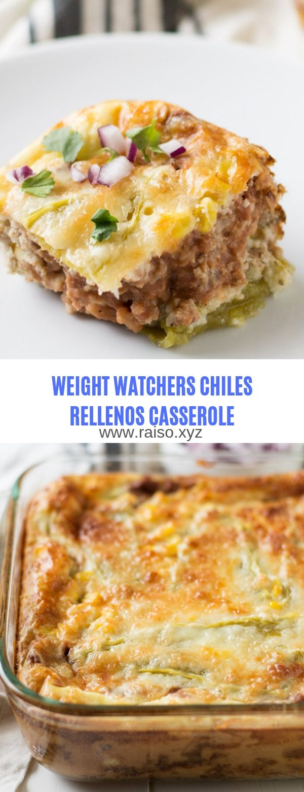 WEIGHT WATCHERS CHILES RELLENOS CASSEROLE