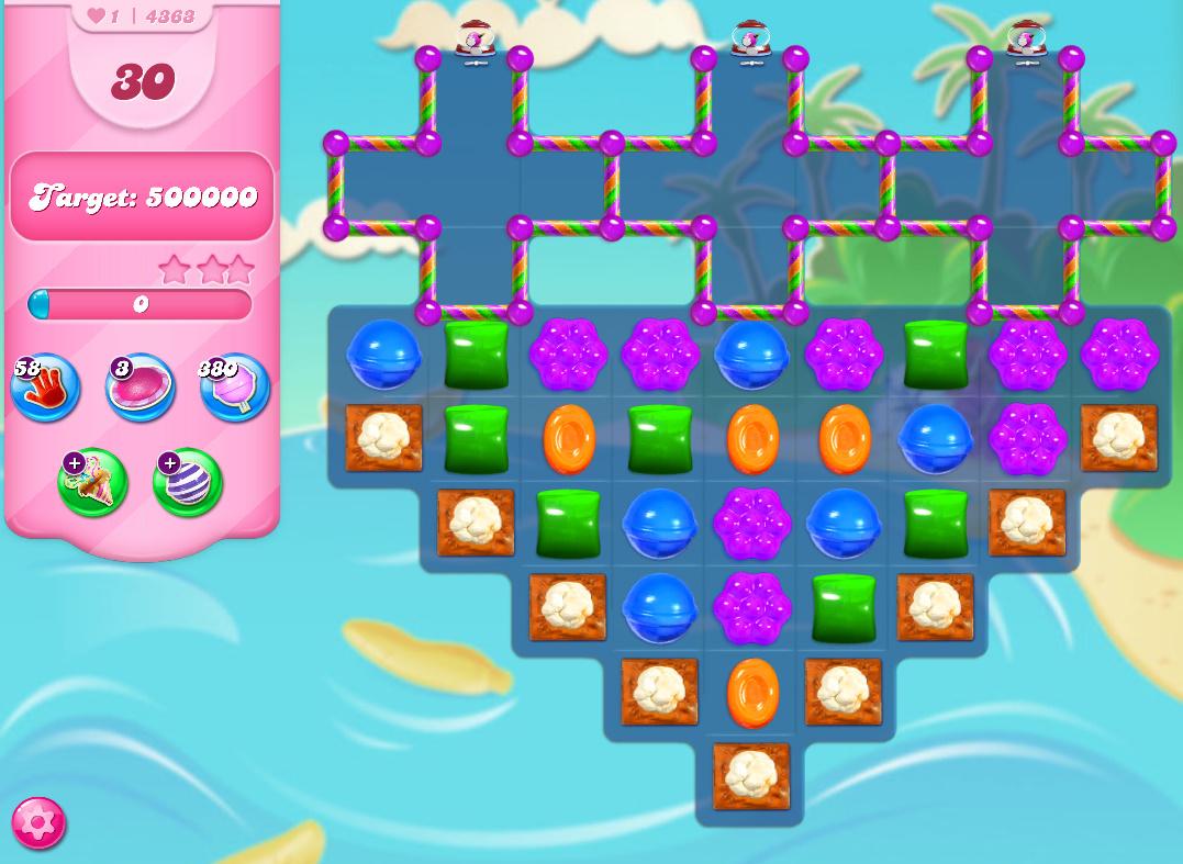 Candy Crush Saga level 4363