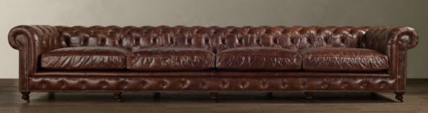 163u2033 Kensington Leather Sofa