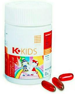 Jual K-KIDS OMEGA K-LINK/ K Kids K Link Minyak Ikan (Vitamin Pertumbuhan dan Kecerdasan Anak) di Surabaya