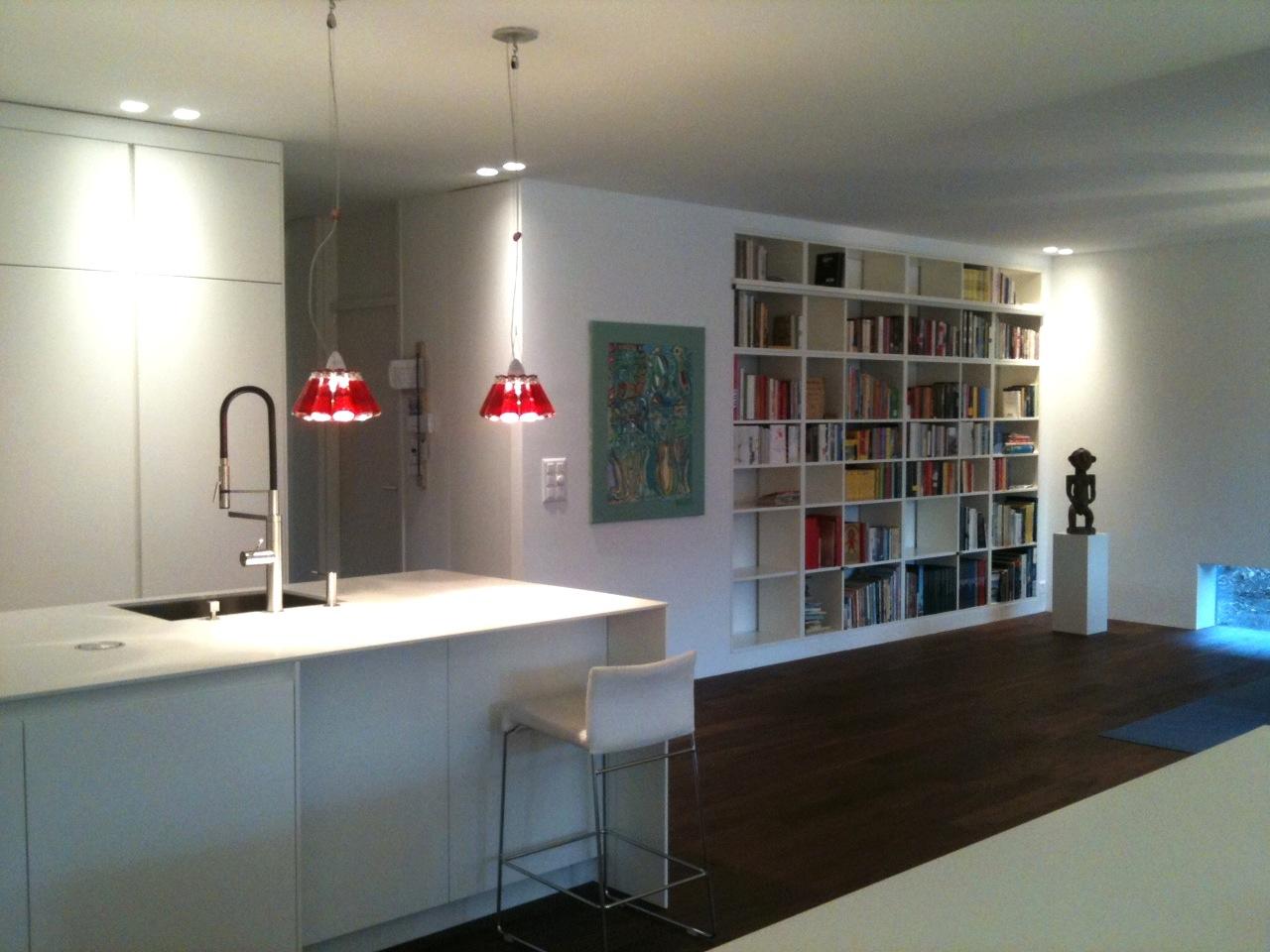 kitchen wall shelf banquette ingo maurer campari light pendantlamp, red glas size 1 ...