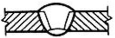 Сварное соединение двух элементов, примыкающих друг к другу торцовыми поверхностями