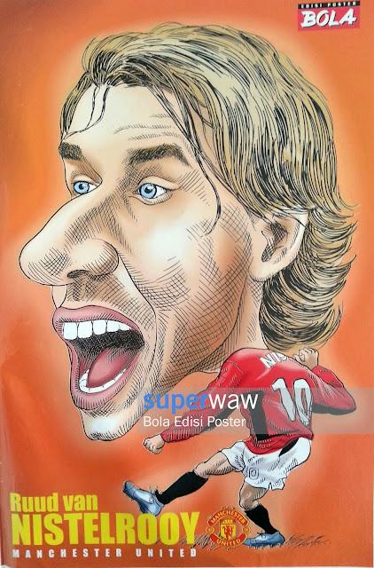 Poster Karikatur Ruud Van Nistelrooy (Manchester United)