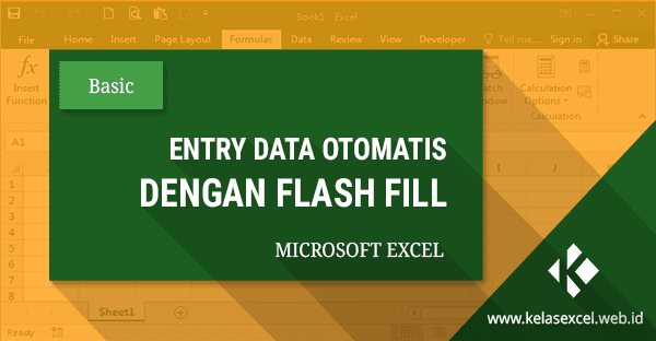 Fungsi Flash Fill Excel, Cara Entry Data Otomatis Pada Excel