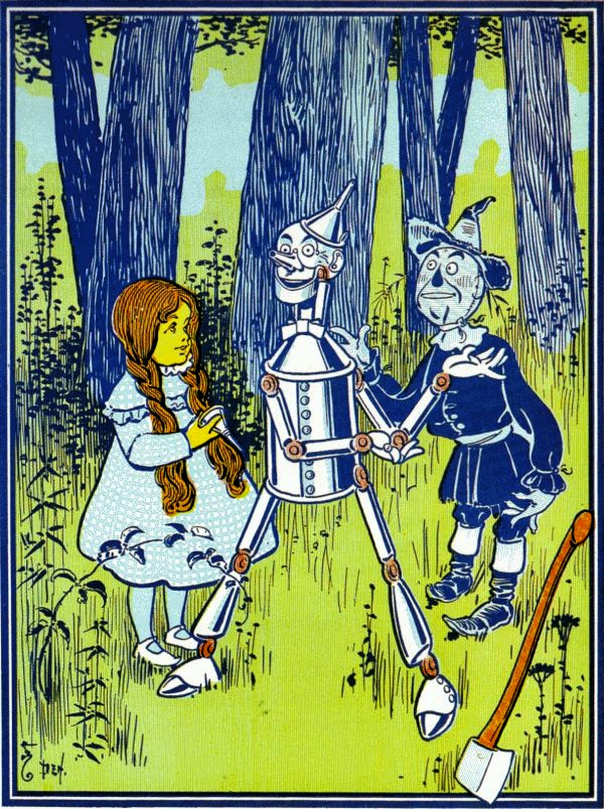 Wizard Of Oz Dorothy Tinman Scarecrow on Kindness Clip Art