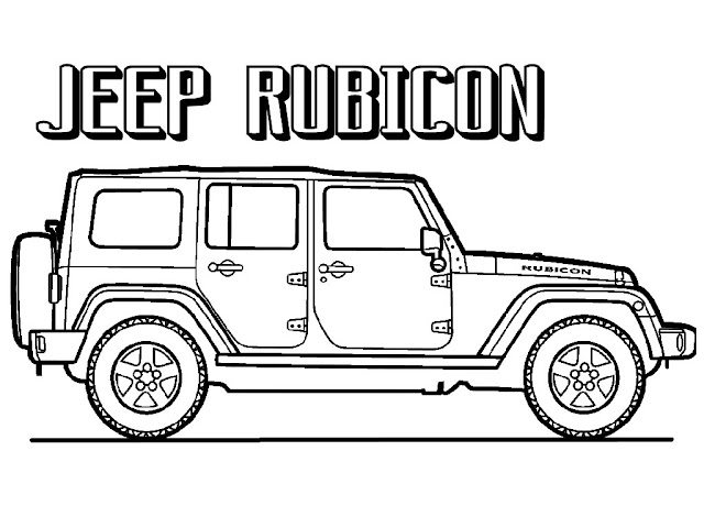 Jeep Rubicon coloring pages to print