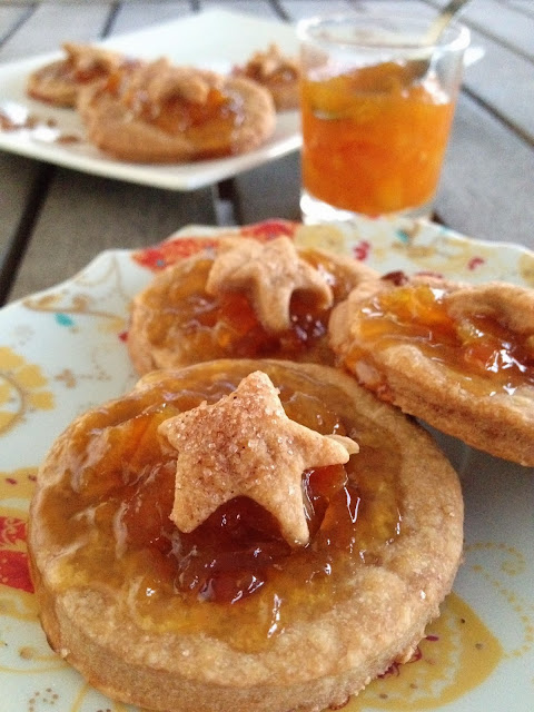 Sweet Kwisine, biscuits, orange, sablés, muscovado, confiture, Noel, Christmas cookie