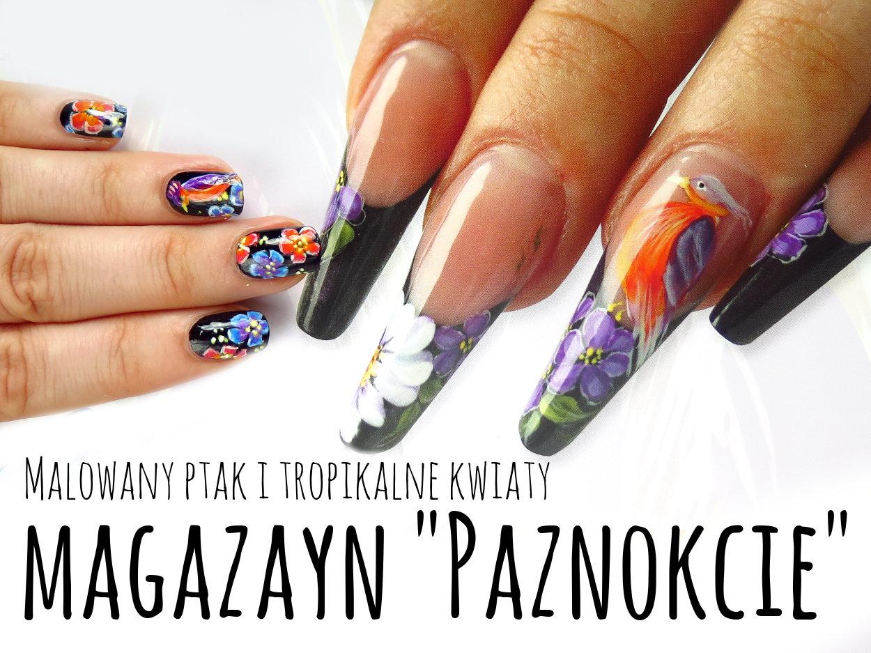 """Magazyn """"Paznokcie"""" - czy warto kupić? Plus tropikalne zdobienie paznokci na lato"""