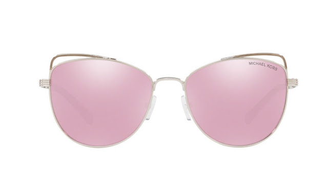 Michael Kors 'St. Lucia' Sunglasses in Silver/Pink $104.25