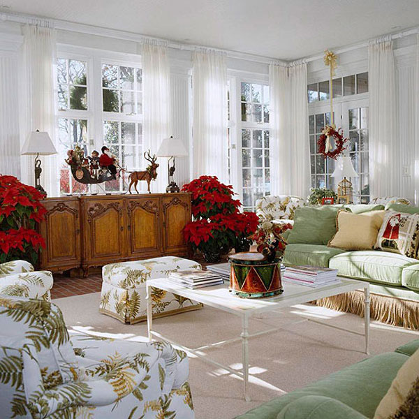 Hogares frescos ideas de decoraci n de navidad el for Salones decorados para navidad