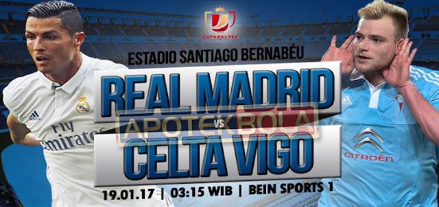 Prediksi Pertandingan Real Madrid vs Celta Vigo 19 Januari 2017