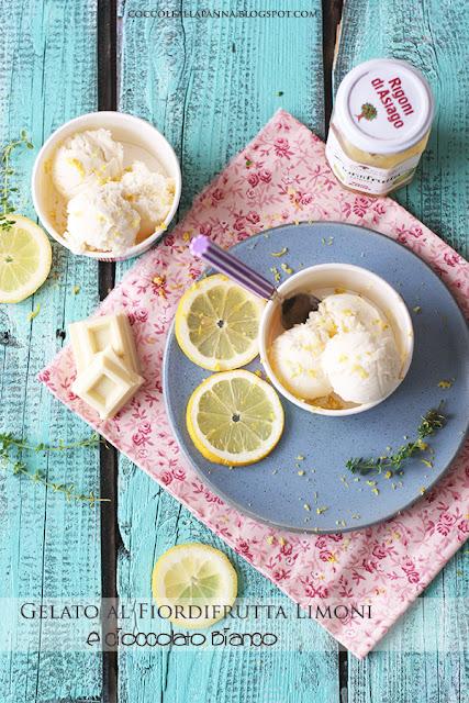 Gelato al Fiordifrutta Limoni e cioccolato bianco