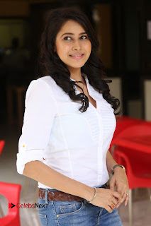 Actress Panchi Bora Pictures in Jeans at Evaru Movie Interview 0103