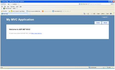 MVC 2 Application Home Page
