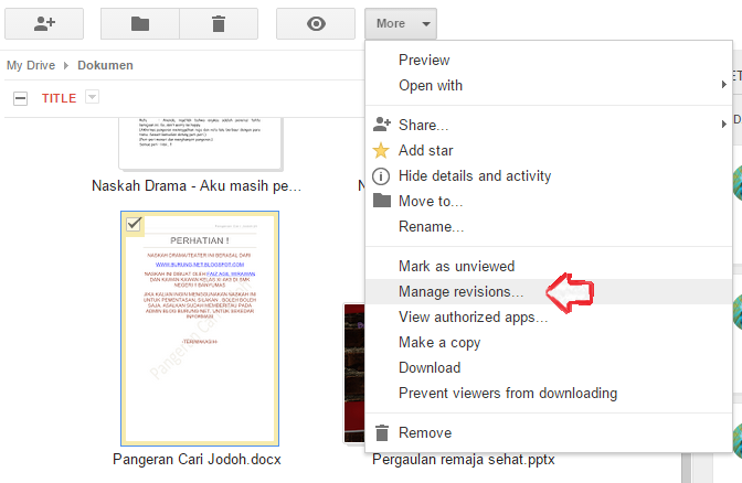cara update file di google drive