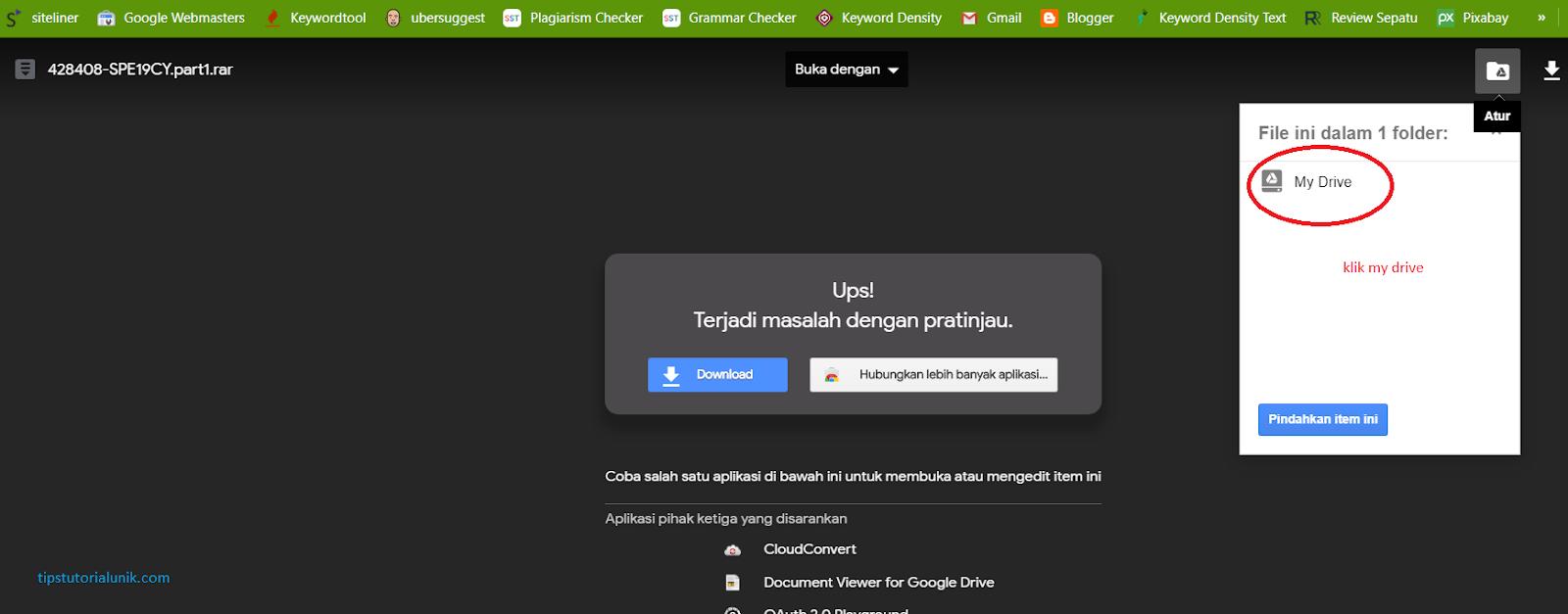 Tips Cara Membuka Link Google Drive paling mudah