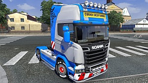 Blu skin for Scania Streamline