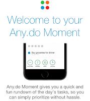 Imagem do app Any.Do, minha dica de aplicativo para organizar tarefas