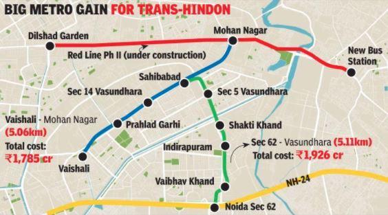 Ghaziabad Metro Plan | Present & Future - Working & Under
