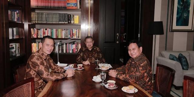 AHY ikut dalam pertemuan tertutup SBY-Prabowo